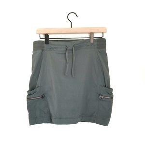 Athleta Olive Green Skirt Skort Built In Shorts